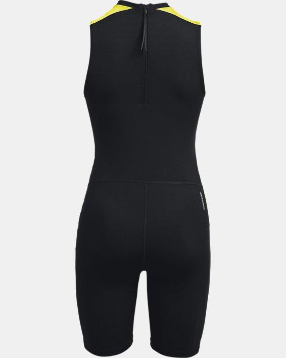 Women's UA RUSH™ HeatGear® 80's Pack Short Bodysuit, Black, pdpMainDesktop image number 7