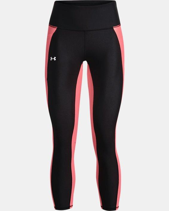 Women's HeatGear® Armour No-Slip Waistband Panel Ankle Leggings, Black, pdpMainDesktop image number 4
