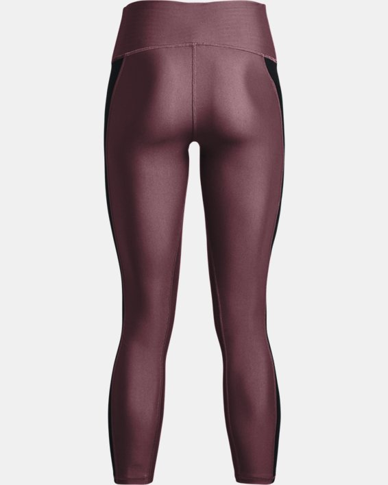 Women's HeatGear® Armour No-Slip Waistband Panel Ankle Leggings, Purple, pdpMainDesktop image number 5