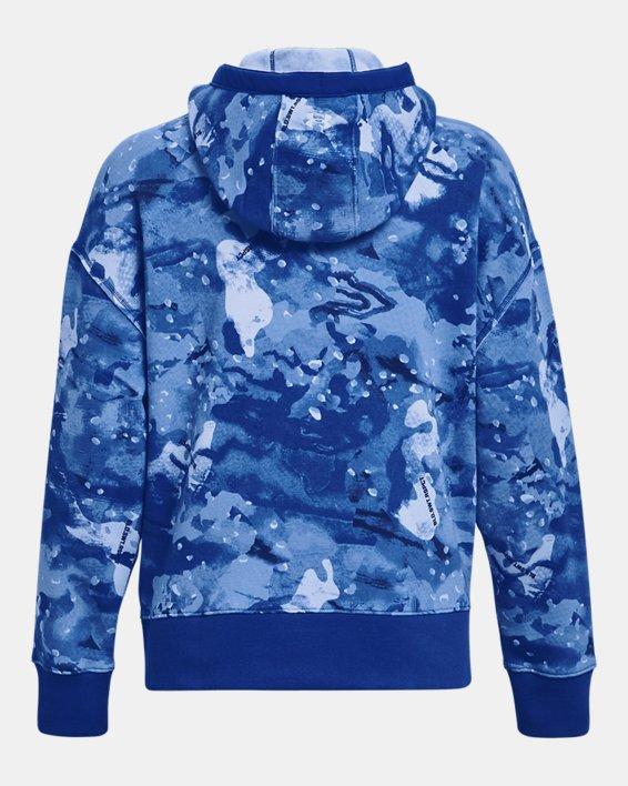 Women's Project Rock Printed Hoodie, Blue, pdpMainDesktop image number 5