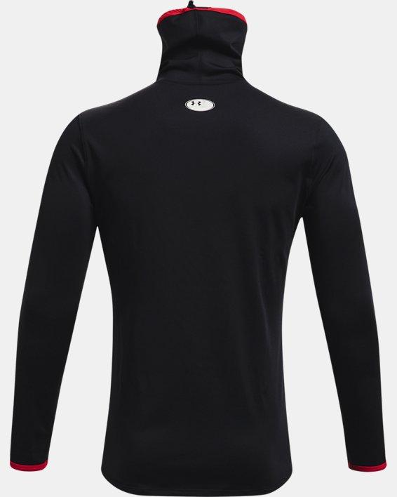 Men's ColdGear® SPORTSMASK Mock Long Sleeve, Black, pdpMainDesktop image number 4