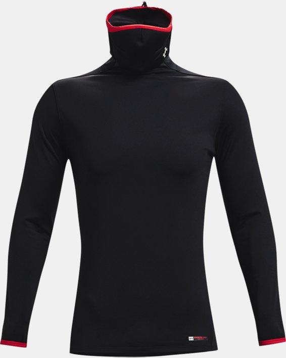 Men's ColdGear® SPORTSMASK Mock Long Sleeve, Black, pdpMainDesktop image number 3