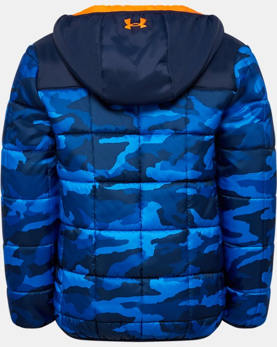 Boys' Toddler UA Print Magnus Puffer Jacket, Navy, pdpMainDesktop image number 1