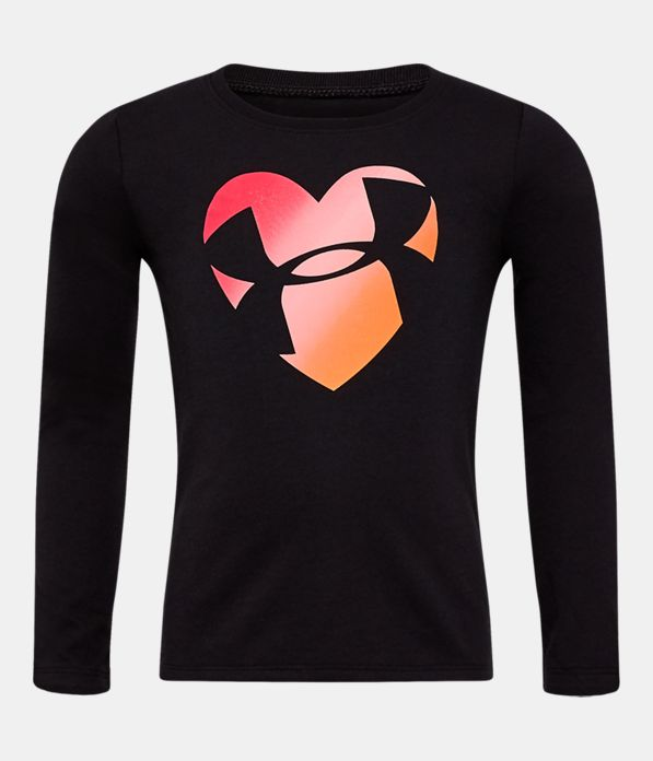 020c30d3ef Girls' Toddler UA Heart Long Sleeve