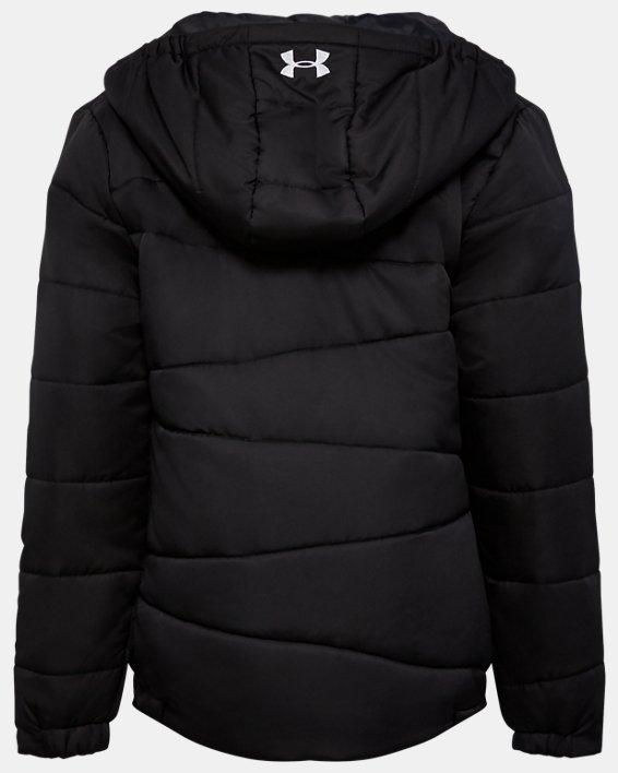 Girls' Pre-School UA Prime Puffer Jacket, Black, pdpMainDesktop image number 1
