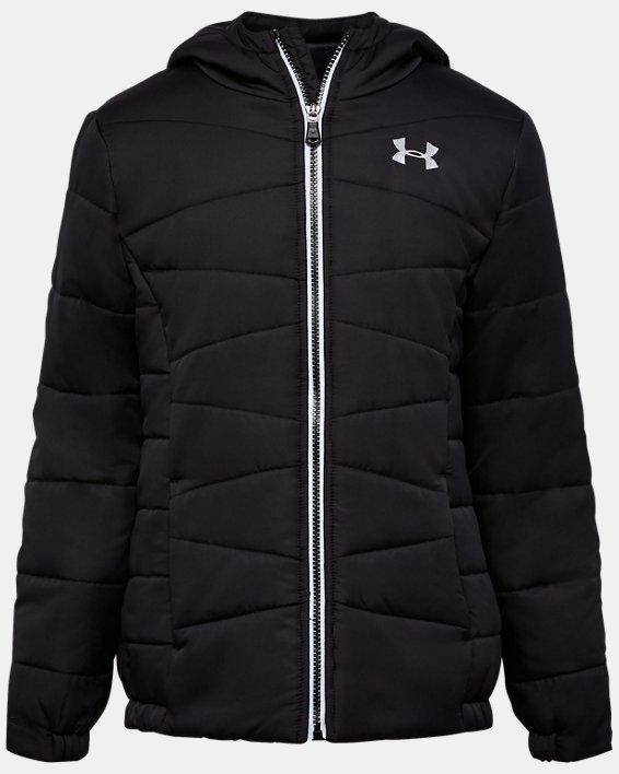 Girls' Pre-School UA Prime Puffer Jacket, Black, pdpMainDesktop image number 0