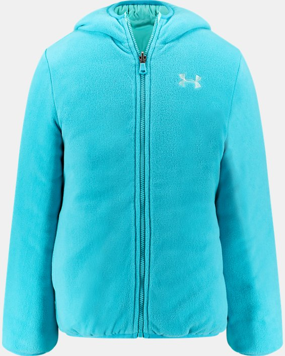 Girls' Pre-School UA Prime Puffer Jacket, Blue, pdpMainDesktop image number 2