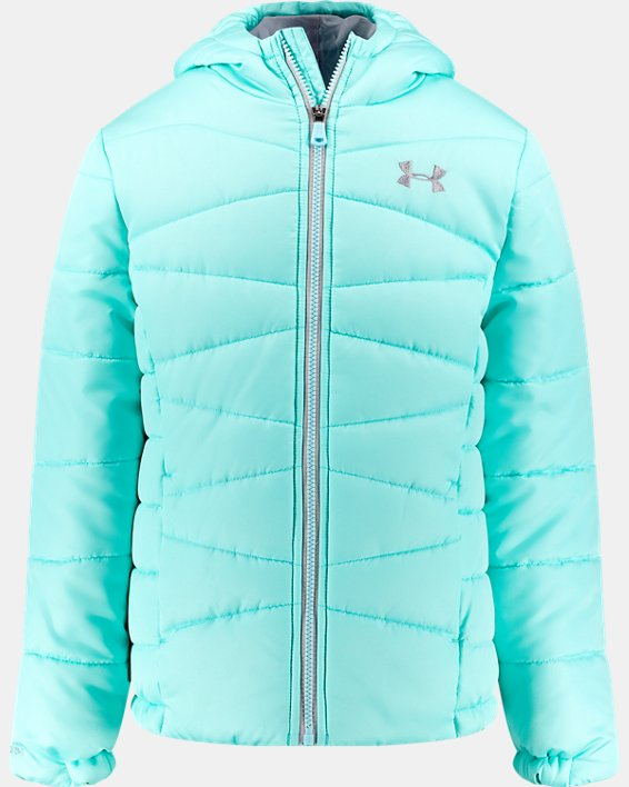Girls' Pre-School UA Prime Puffer Jacket, Blue, pdpMainDesktop image number 0