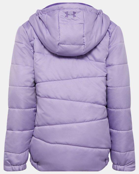Girls' Pre-School UA Prime Puffer Jacket, Purple, pdpMainDesktop image number 1