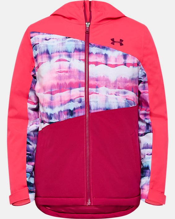 Girls' Pre-School UA Rowyn Jacket, Pink, pdpMainDesktop image number 0