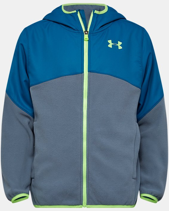 Boys' Pre-School UA North Rim Microfleece Jacket, Gray, pdpMainDesktop image number 0