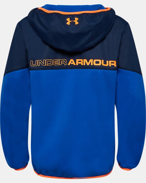 Boys' Pre-School UA North Rim Microfleece Jacket, Blue, pdpMainDesktop image number 1