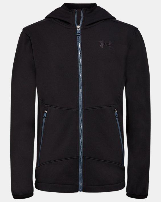 Boys' Pre-School UA Sim Softshell Jacket, Black, pdpMainDesktop image number 0