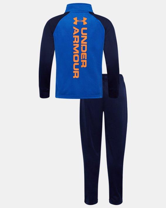 Boys' Pre-School UA Competitor Wordmark Track Set, Blue, pdpMainDesktop image number 1