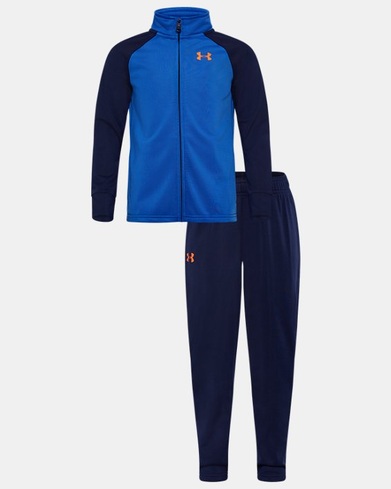 Boys' Pre-School UA Competitor Wordmark Track Set, Blue, pdpMainDesktop image number 0