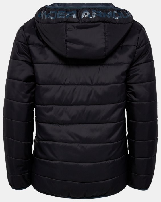Boys' Pre-School UA Pronto Puffer Jacket, Black, pdpMainDesktop image number 1