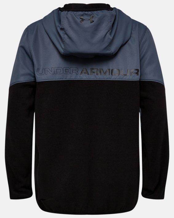 Boys' UA North Rim Microfleece Jacket, Black, pdpMainDesktop image number 1