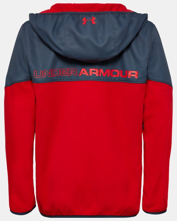 Boys' UA North Rim Microfleece Jacket, Red, pdpMainDesktop image number 1