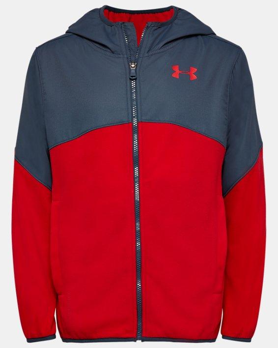 Boys' UA North Rim Microfleece Jacket, Red, pdpMainDesktop image number 0