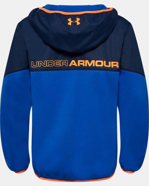 Boys' UA North Rim Microfleece Jacket, Blue, pdpMainDesktop image number 1