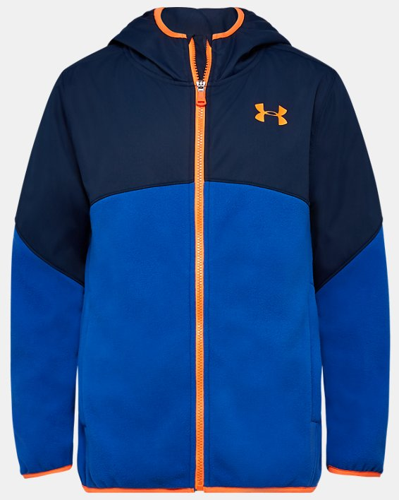 Boys' UA North Rim Microfleece Jacket, Blue, pdpMainDesktop image number 0
