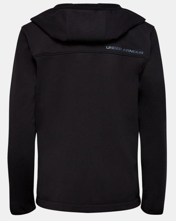 Boys' UA Sim Softshell Jacket, Black, pdpMainDesktop image number 1