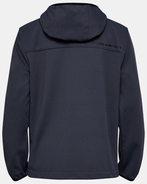 Boys' UA Sim Softshell Jacket, Gray, pdpMainDesktop image number 1