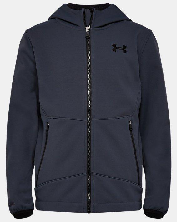 Boys' UA Sim Softshell Jacket, Gray, pdpMainDesktop image number 0
