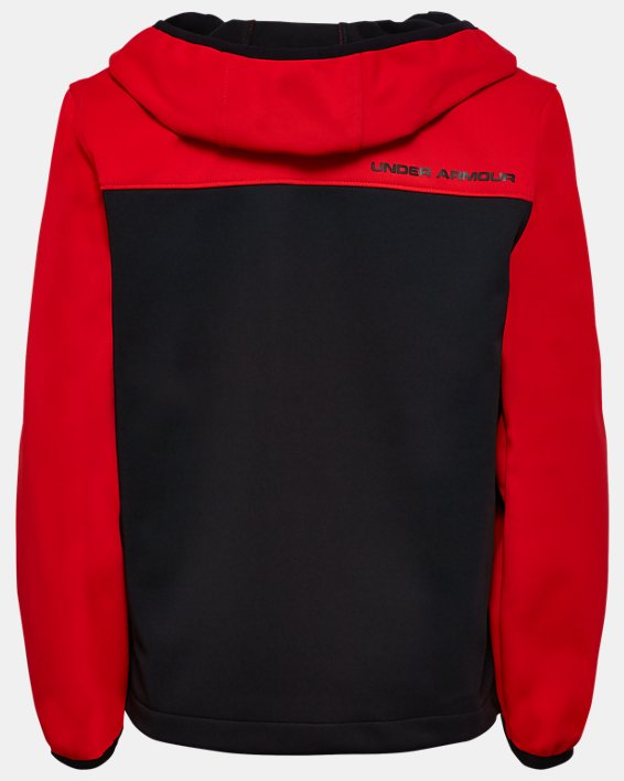 Boys' UA Sim Softshell Jacket, Red, pdpMainDesktop image number 1