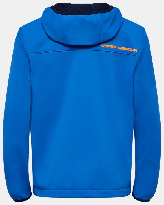 Boys' UA Sim Softshell Jacket, Blue, pdpMainDesktop image number 1