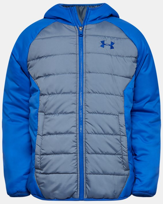 Boys' UA Tuckerman Puffer Jacket, Gray, pdpMainDesktop image number 0