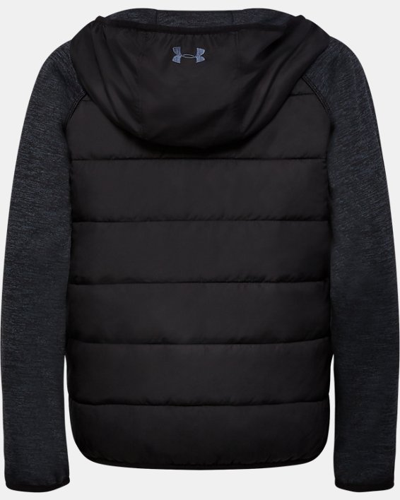 Boys' UA Day Trekker Hybrid Jacket, Black, pdpMainDesktop image number 1