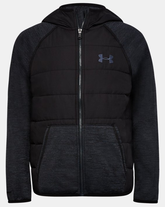 Boys' UA Day Trekker Hybrid Jacket, Black, pdpMainDesktop image number 0