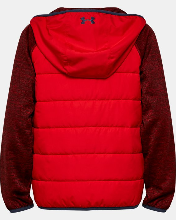 Boys' UA Day Trekker Hybrid Jacket, Red, pdpMainDesktop image number 1