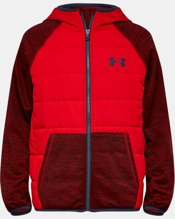 Boys' UA Day Trekker Hybrid Jacket, Red, pdpMainDesktop image number 0