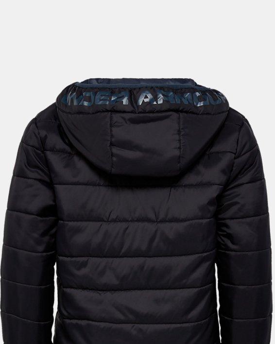 Boys' UA Pronto Puffer Jacket, Black, pdpMainDesktop image number 1