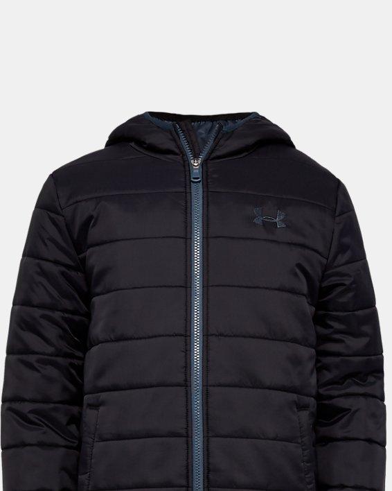 Boys' UA Pronto Puffer Jacket, Black, pdpMainDesktop image number 0