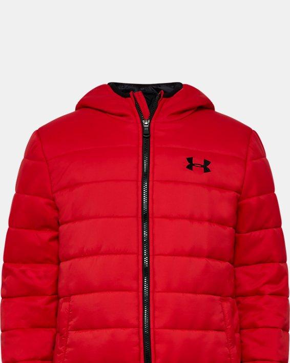 Boys' UA Pronto Puffer Jacket, Red, pdpMainDesktop image number 0