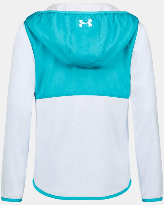 Girls' UA Canyon Rim Microfleece Jacket, Blue, pdpMainDesktop image number 1