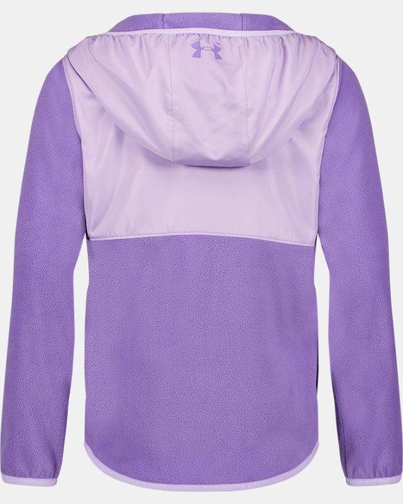 Girls' UA Canyon Rim Microfleece Jacket, Purple, pdpMainDesktop image number 1