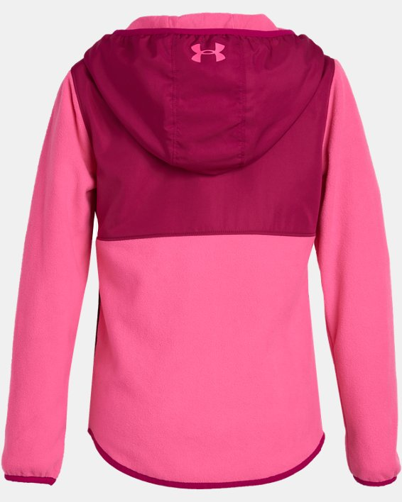 Girls' UA Canyon Rim Microfleece Jacket, Pink, pdpMainDesktop image number 1