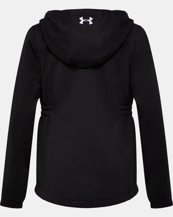 Girls' UA Sim Softshell Jacket, Black, pdpMainDesktop image number 1