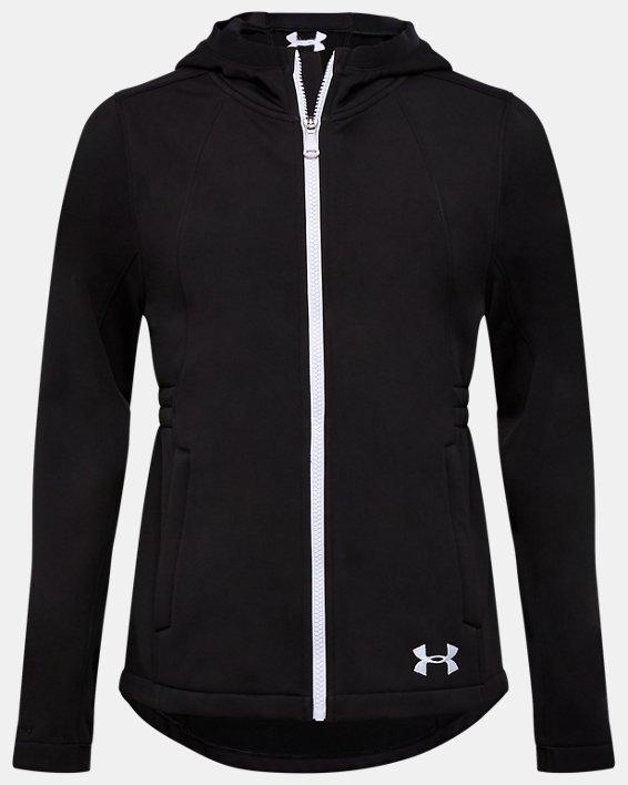 Girls' UA Sim Softshell Jacket, Black, pdpMainDesktop image number 0