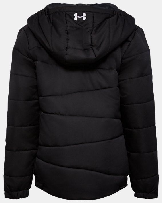 Girls' UA Prime Puffer Jacket, Black, pdpMainDesktop image number 1