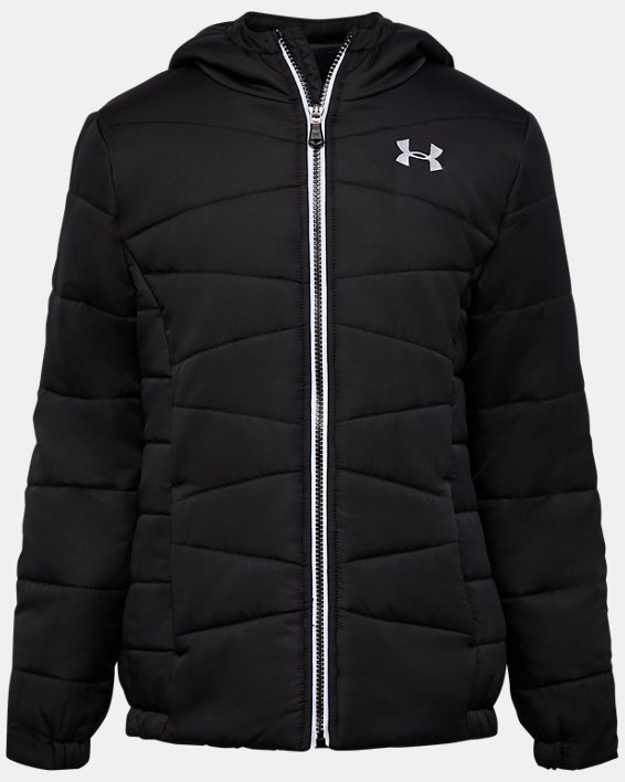 Girls' UA Prime Puffer Jacket, Black, pdpMainDesktop image number 0