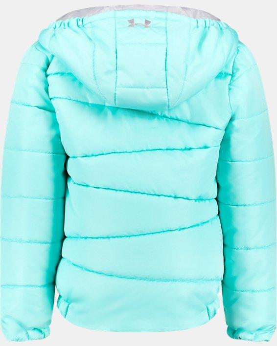 Girls' UA Prime Puffer Jacket, Blue, pdpMainDesktop image number 1