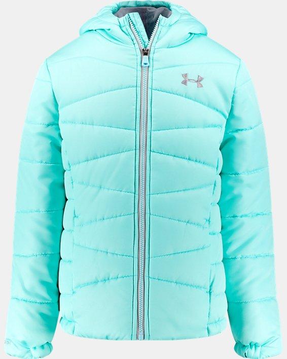 Girls' UA Prime Puffer Jacket, Blue, pdpMainDesktop image number 0