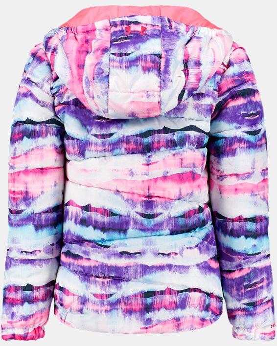 Girls' UA Prime Print Puffer Jacket, Orange, pdpMainDesktop image number 1