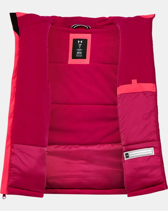 Girls' UA Rowyn Jacket, Pink, pdpMainDesktop image number 2