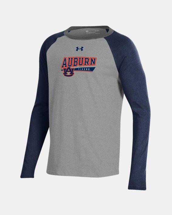 Boys' UA Tri-Color Performance Cotton Baseball Collegiate T-Shirt, Navy, pdpMainDesktop image number 0